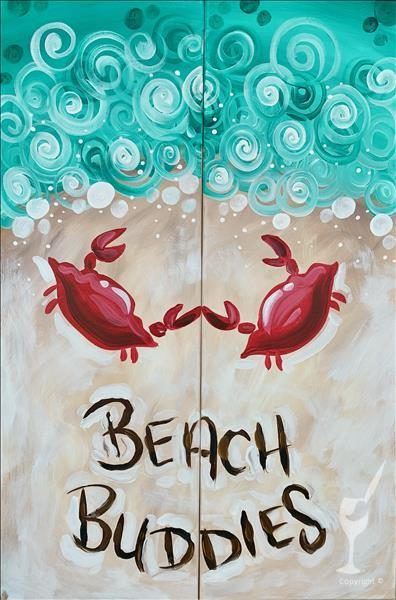 Beach Buddies - Paint With Your Friends or Date!