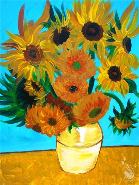 How to Paint VAN GOGH'S FLOWERS ***Public Event***
