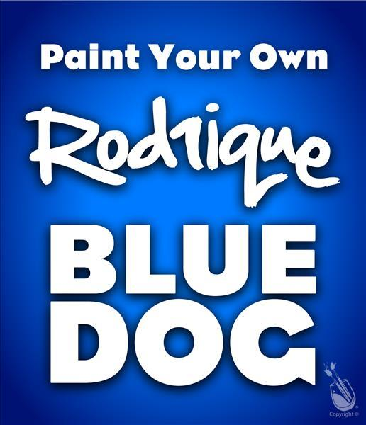 How to Paint Kids Class! Paint Your Own Blue Dog- Ages 6+
