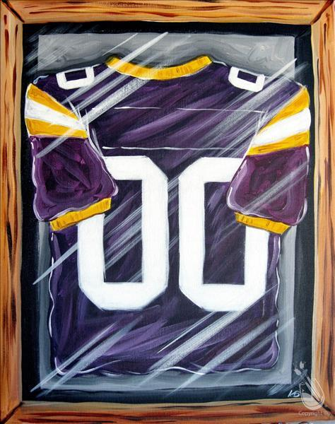 "How to Paint It's LSU Football Time! ""Create Your Jersey"""