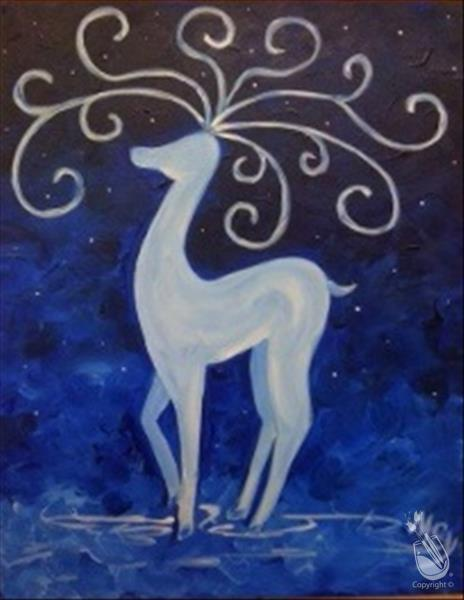 How to Paint Curly Reindeer