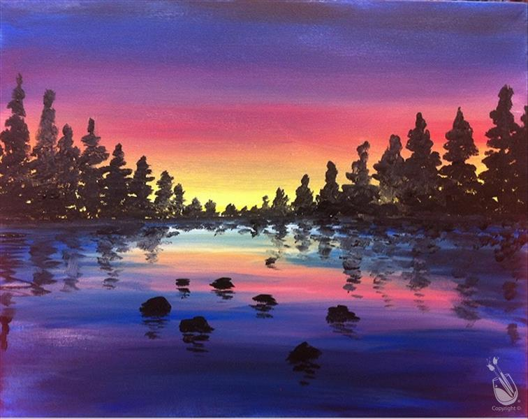 Lake Sunset (MONDAY FUNDAY! $25)