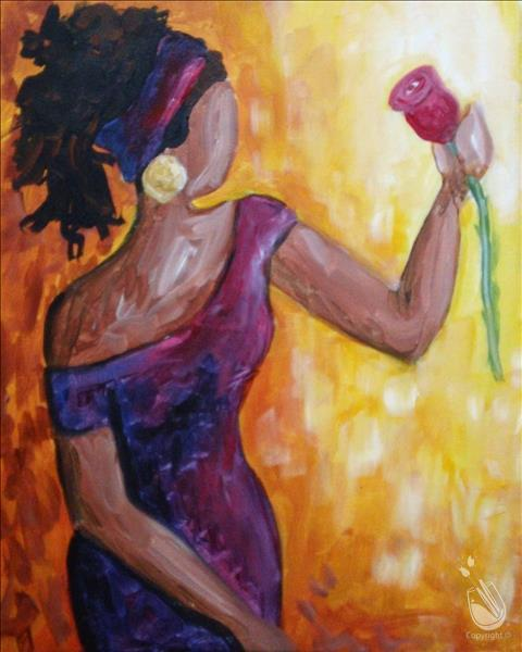 Mahogany saturday september 19 2015 painting with a for Painting with a twist cedar hill tx