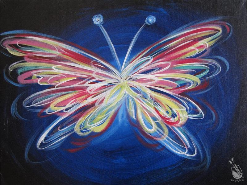 How to Paint OPEN TO ALL AGES - Neon Butterfly