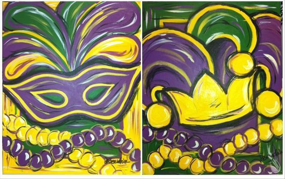 How to Paint Mardi Gras Style -Pick One