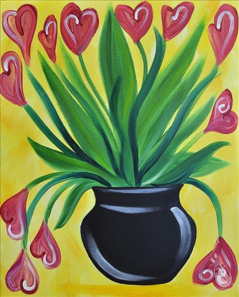 How to Paint COFFEE & CANVAS: Colorful Tulips: Ages 6+