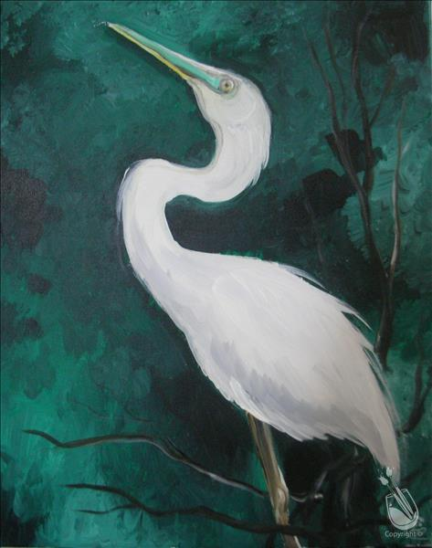 How to Paint The Egret
