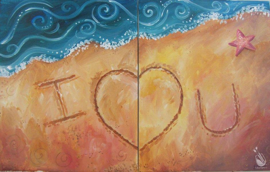 How to Paint Love Letters in the Sand Set