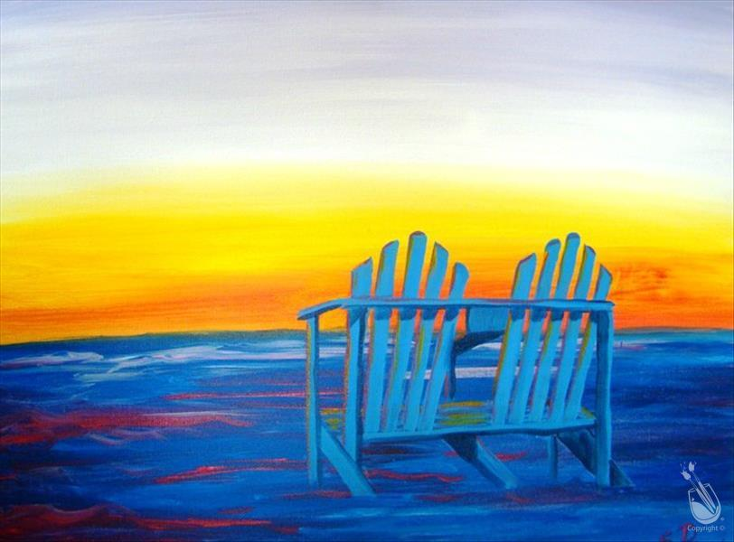 Beach Chairs at Sunset