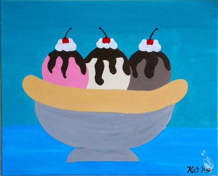 VIRTUAL OR IN STUDIO: Summer Fun! Banana Split