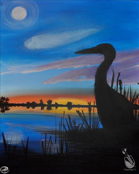Heron Sunset
