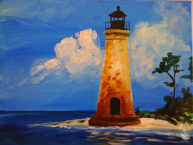 Beach Lighthouse *Double Paint Points*
