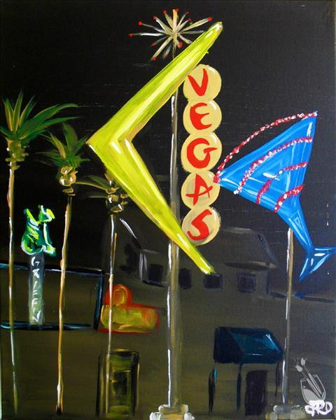 viva las vegas saturday august 25 2012 painting