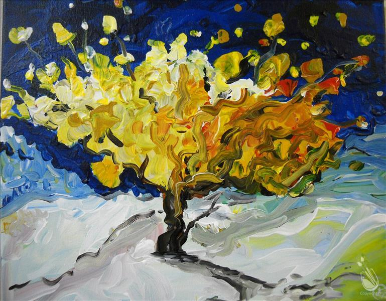 Van Gogh Tree Painting Party