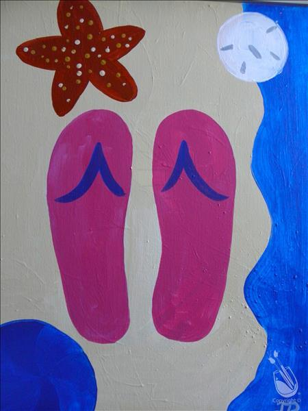 How to Paint Flip Flops in the Sand