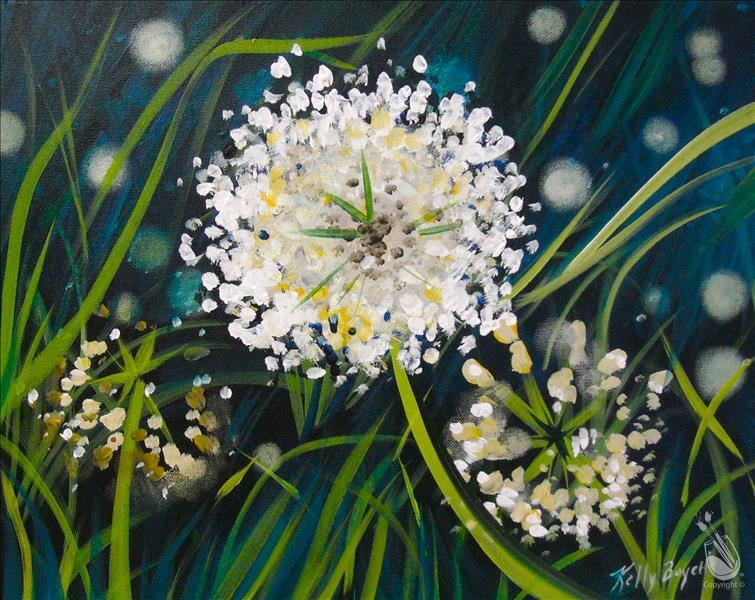 How to Paint White Wildgrass Flowers
