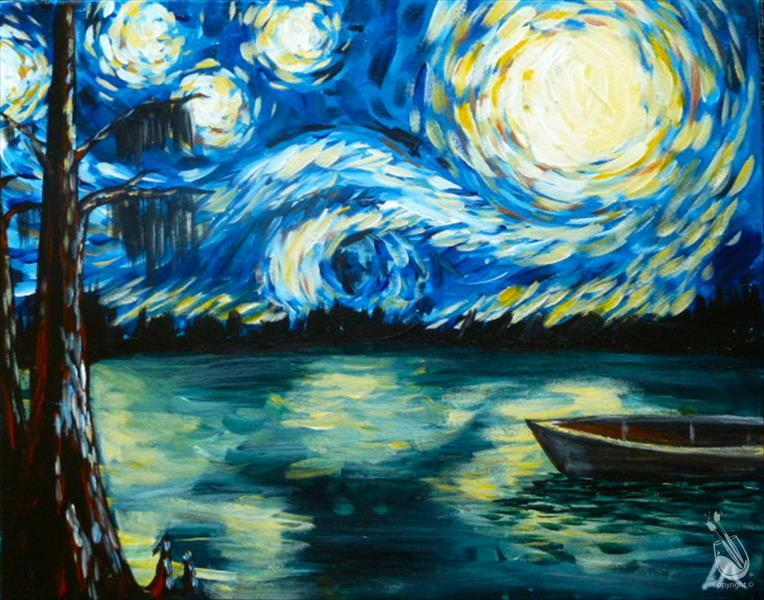 How to Paint Starry Night in the Swamp