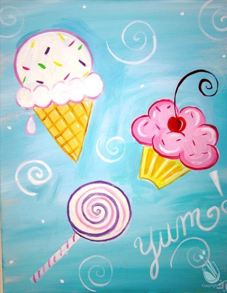 VIRTUAL OR IN STUDIO: Summer Fun! Yum Yum