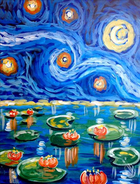 Starry Water Lilies