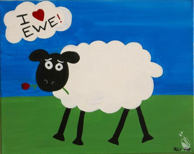 How to Paint I LOVE EWE (all ages/no alcohol)