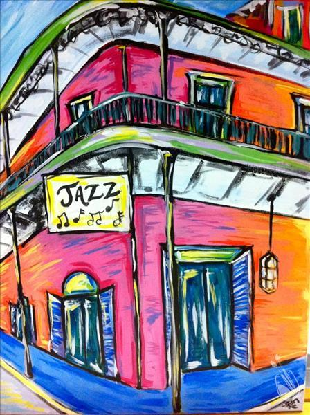 Sunny Jazz Hall With Neon Colors