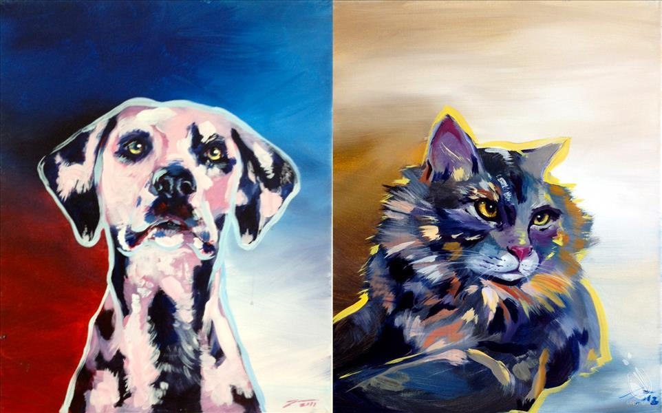 How to Paint Paint YOUR Pet! (We pre-sketch for you!)