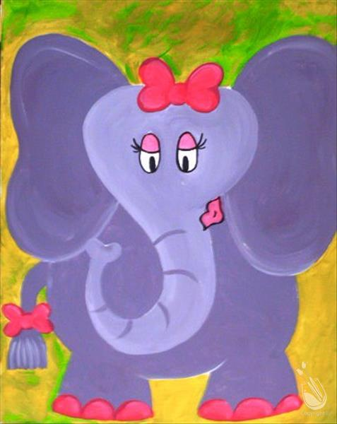 How to Paint Elephant Kids - Girl (All Ages)