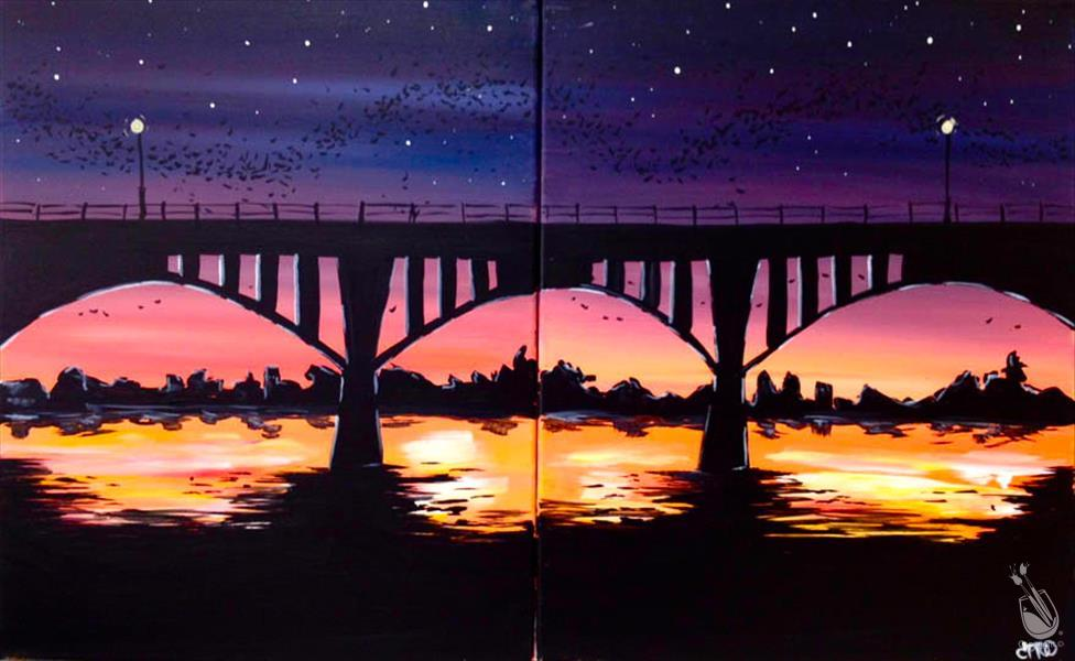How to Paint Couples Congress Bridge  ASL FRIENDLY! 1 seat left