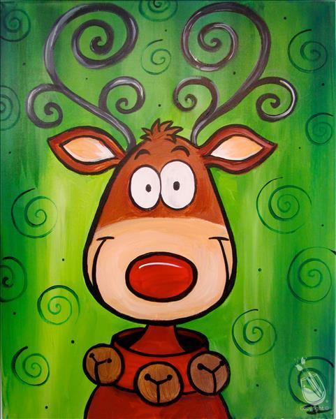 How to Paint Crazy Reindeer