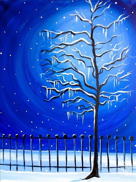 Icicle Paradise Painting Party