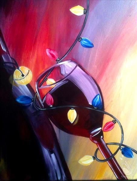 Red Wine For The Holiday Wednesday December 5 2018 Painting