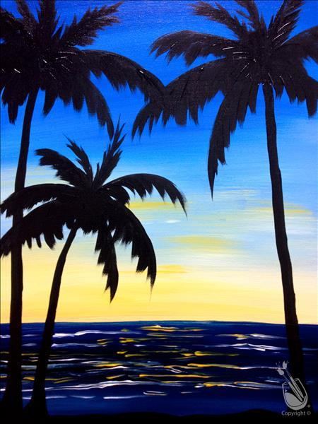 How to Paint Palms at Dusk
