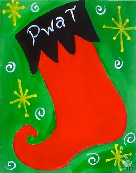 How to Paint KID'S CLASS - PERSONALIZE YOUR STOCKING (OPEN)