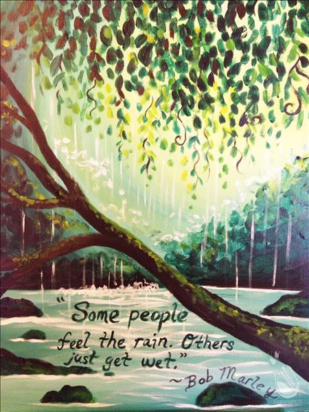 Feel the Rain: Paint Your Stress Away