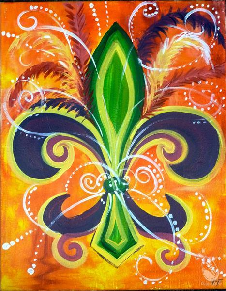 How to Paint Fleur de Lis - Option 1