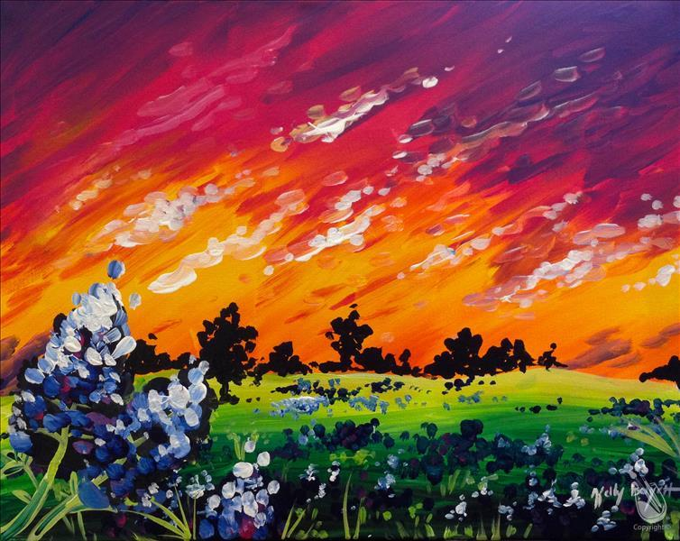 Bluebonnet Sunset - In Studio Class!