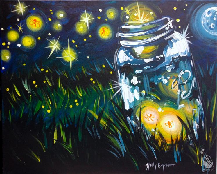 How to Paint PUBLIC: Fireflies  **Local Favorite**