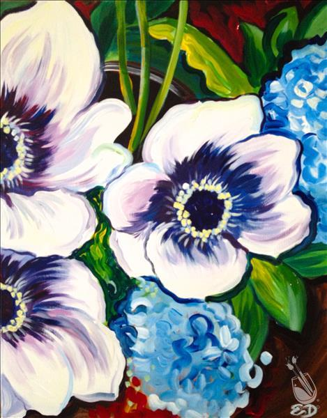 Afternoon Art Party- Lovely Anemones!