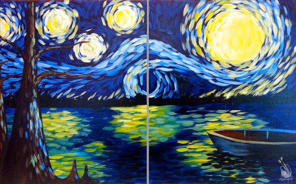 How to Paint Starry Night at the Swamp - Set or single