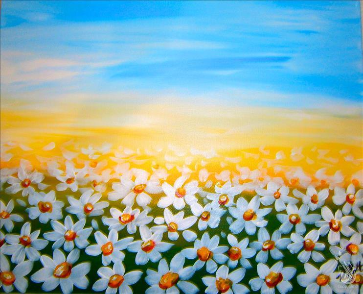 How to Paint Field of Daisies (Ages 10+)