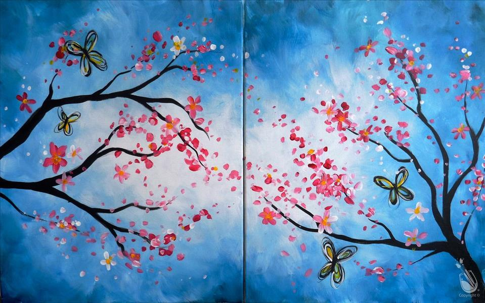 How to Paint Blossoms and Butterflies - Set