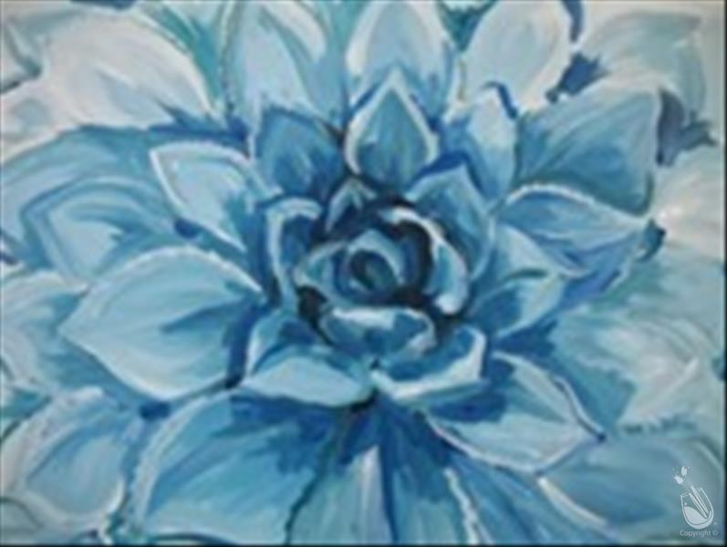 How to Paint Virtual LIVE-Meaningful Monday-Blue Agave