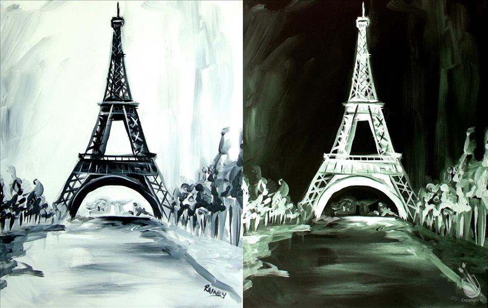 How to Paint Eiffel Tower Romance, Couples Night