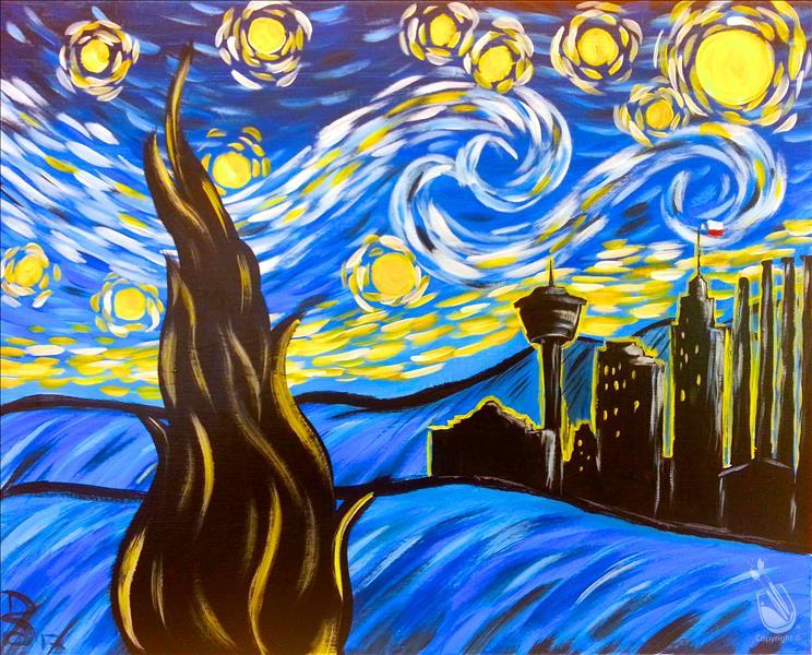 Van gogh 39 s to san antonio adults only sunday february for Painting with a twist alamo ranch