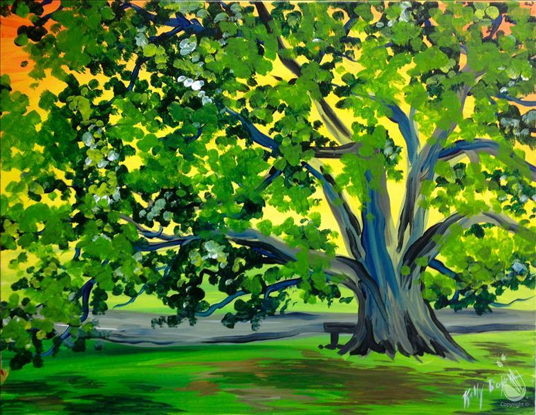"How to Paint Austin Aggie Moms Event ""100 Year Tree"""