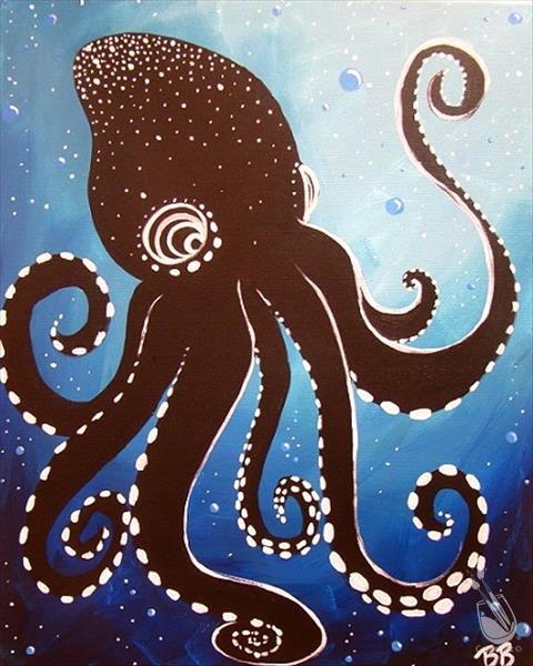 How to Paint Aboriginal Octopus