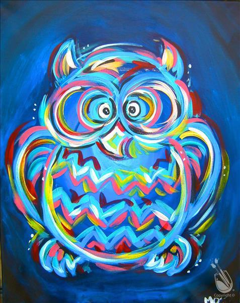 How to Paint *CANCELLED* Neon Owl - ALL AGES 5+