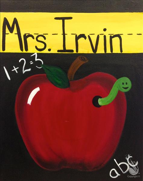 Teacher's Open Studio! Apple! Personalize!