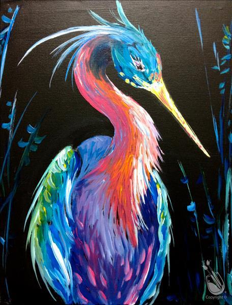 How to Paint Neon Heron
