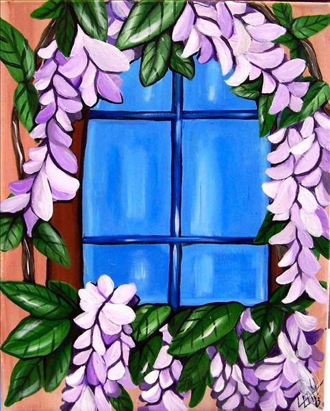 How to Paint **COFFEE & CANVAS** Wisteria Window